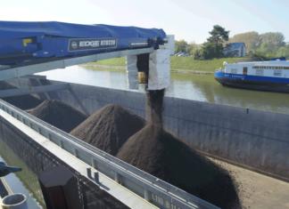 Asphalt-Recycling im Hafen Hanau
