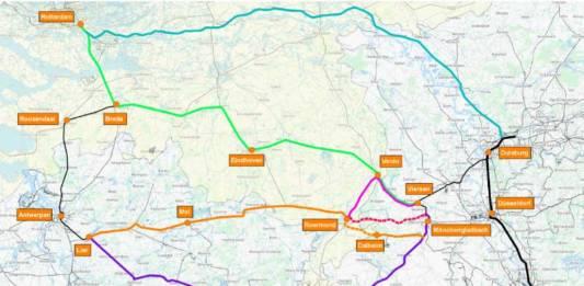 Eine Machbarkeitsstudie sieht die sogenannte 3RX-Strecke als geeignete Verbindung der Rhein-Ruhr-Region mit den Seehäfen an