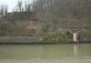An der Saar, unterhalb der Staustufe Mettlach, kam ein Fels ins Rutschen