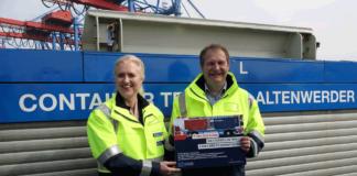 Die HHLA hat von der Behörde für Umwelt und Energie Fördergelder in Höhe von fast 8 Mio. € für den Containertransport mit Ökostrom erhalten