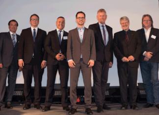 Der neue Vorstand des Maritimen Clusters Norddeutschland (v.l.n.r.): Hanns Christoph Saur, Christian Cammin, Max Stolzenburg, Dominik Eisenbeis, Knut Gerdes, Wolfgang-Dieter Glanz und Dirk Schümann