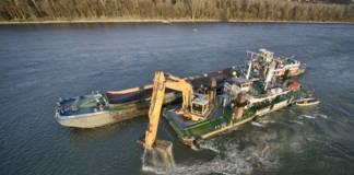 Ausbau Baggerarbeiten Baggerung Donau viadonau