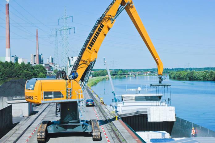 Umschlag Hafen Aschaffenburg bayernhafen