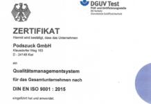 Podszuck ist von BG Verkehr für sein Qualitätsmanagement zertifiziert worden. Foto: Podszuck