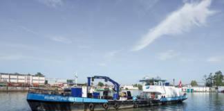 Dieser Bilgenenthöler sammelt Schiffabfälle in der Schweiz