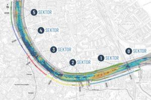 Der Verlauf des Rheins bei Basel