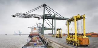 Hafen Antwerpen Binnenschiff