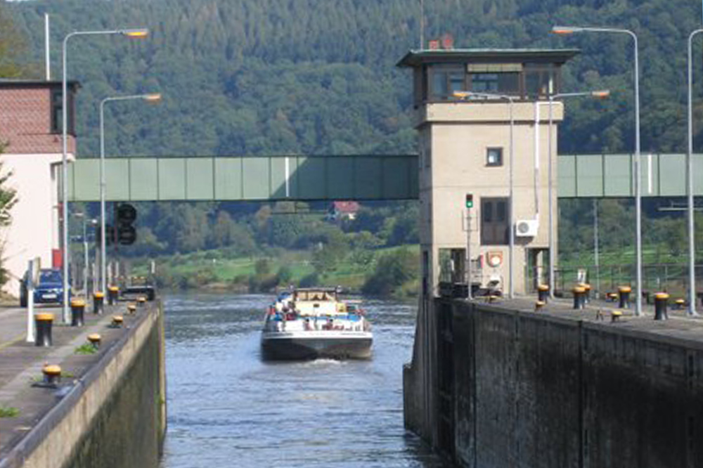 Neckar Schleuse Rockenau WSA Heidelberg