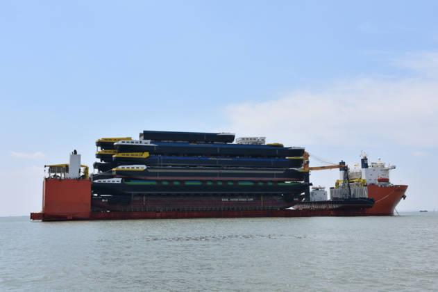Concordia Damen ships 18 hulls from Shanghai to Rotterdam 4