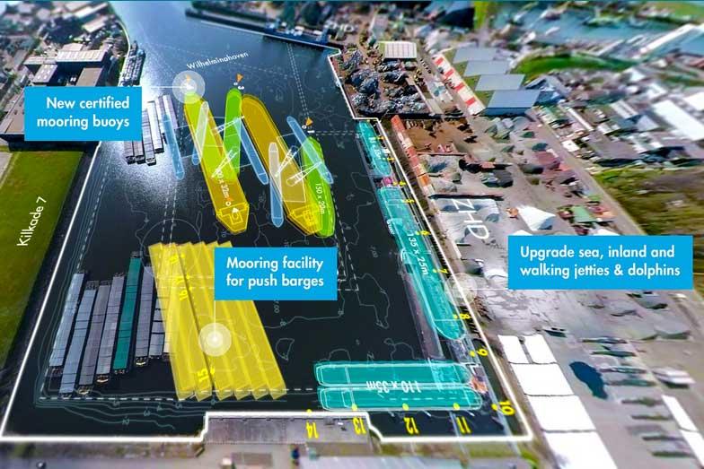 Für 3,5 Mio. € wird der Hafen Dordrecht modernisiert. In der Summe ist auch der Bau neuer Anlagebojen enthalten