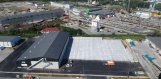 In der neuen Lagerhalle im Rostocker Fracht- und Fischereihafen (RFH) werden Düngemittel gelagert