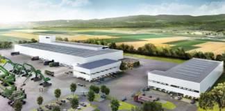 Das neue Customer Service Center von Sennebogen in Steinach hat eine Grundstücksfläche von rund 87.000 m2