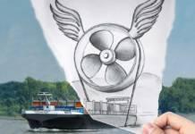 Um bei niedrigen Wasserständen fahren zu könne, hat Contargo die Schiffsschraube optimiert