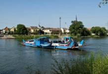 Die Mainfähre zwischen Maintal-Döringheim und Mühlheim ist nach einem Bruch des Führungsseils außer Betrieb