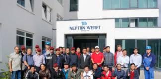 Bei der Neptun Werft bilden sich derzeit Berufsschullehrer aus Vietnam weiter