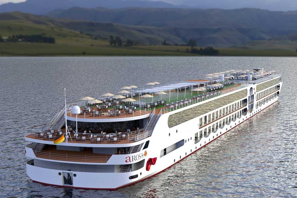 Die Reederei A-Rosa setzt bei ihrem E-Motion Ship auf Batterieantrieb