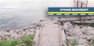 Unbekannte haben in Duisburg zwei Fährsteiger beschädigt
