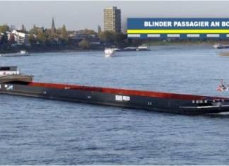 Ein 46-jähriger Mann ist widerrechtlich auf einem Frachter mitgefahren, der auf dem Rhein unterwegs nach Rotterdam war