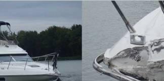 Während der Tanker bei dem Zusammenstoß kaum in Mitleidenschaft gezogen wurde, entstand an dem Sportboot ein Schaden von rund 80.000€