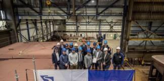 Das Taucherglockenschiff für das WSA Duisburg-Rhein entsteht in den Niederlanden auf der Damen-Werft