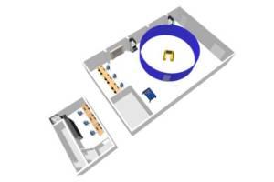 Aufbau des neuen Versuchs- und Leitungszentrums Autonome Binnenschiffe des DST