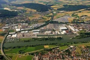 Der Hafen Kelheim befindet sich an der Donau