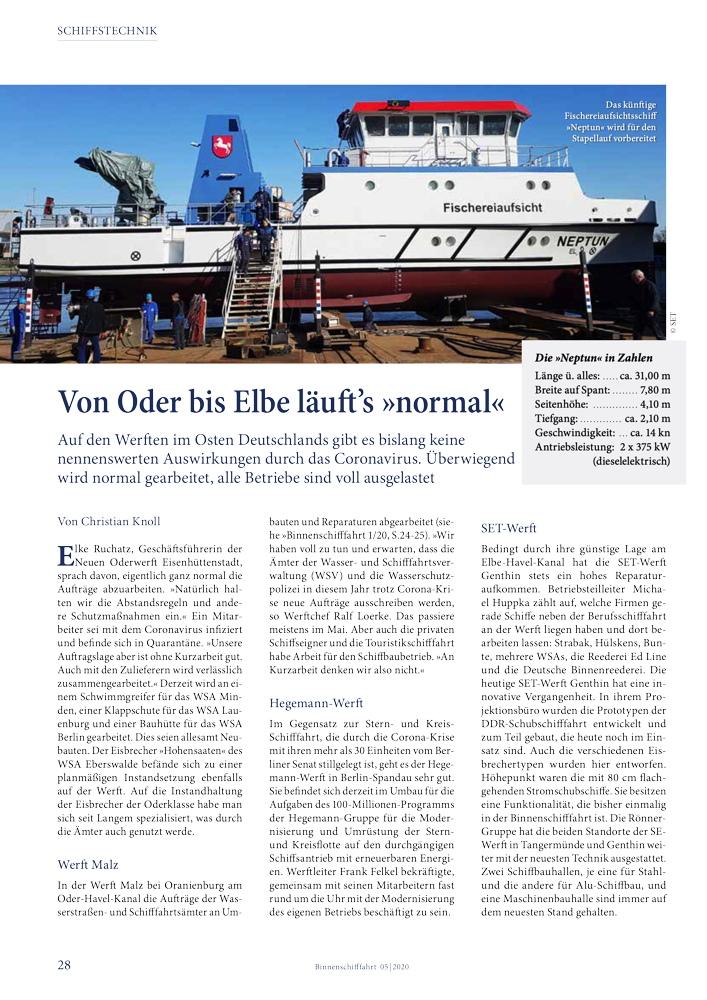 Von Oder bis Elbe läuft's »normal«