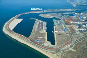 Rotterdam plant autonome Containertransporte im Hafen