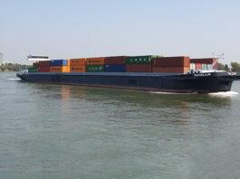 Containerschiff, Rhein, BDB