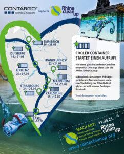 RhineCleanUp: Contargo beteiligt sich an Umwelt-Aktion