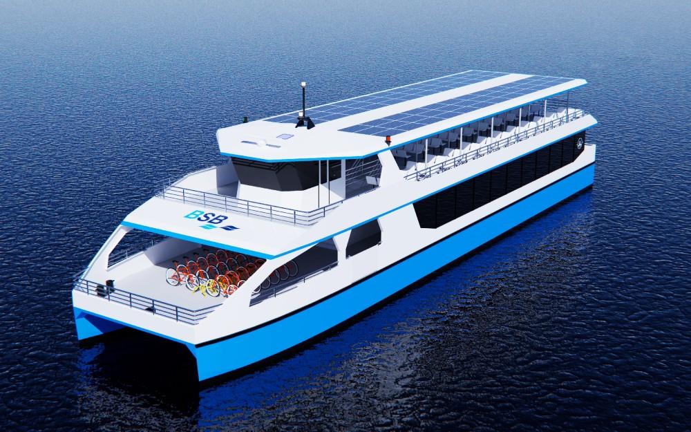 Bis zu 300 Fahrgäste passen auf die neue BSB-Fähre © Ostseestaal