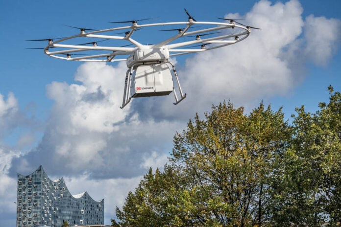 DB Schenker, Volocopter, Erstflug