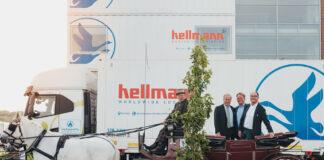 Jost Hellmann, Reiner Heiken und Klaus Hellmann beim 150. Jubiläum des Familienunternehmens © Hellmann