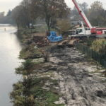 Bauarbeiten behindern die Schifffahrt